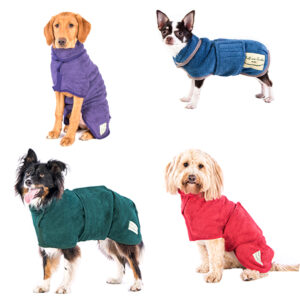 Ruff and Tumble Classic Dog Drying Coats – Red, Blue, Green & Heather