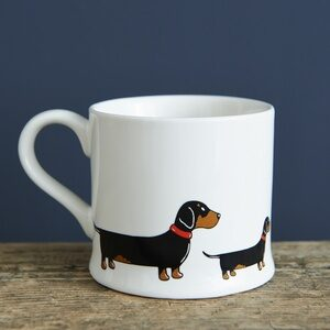 Dachshund Mug by Sweet William.