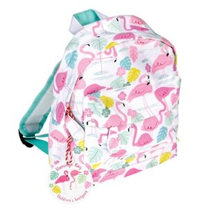 Tropical Flamingo Small Back Pack by Rex.