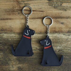 Black Labrador Key Ring by Sweet William.