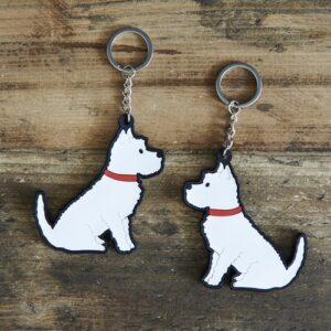 Westie Key Ring by Sweet William.