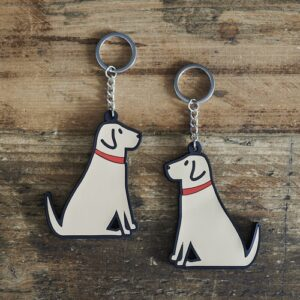 Yellow Labrador Key Ring by Sweet William.