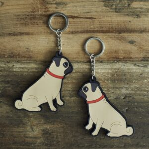 Pug Key Ring by Sweet William.