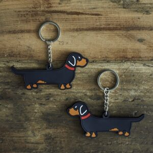 Dachshund Keyring by Sweet William.