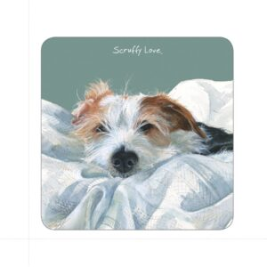 Scruffy Love Coaster by The Little Dog Laughed