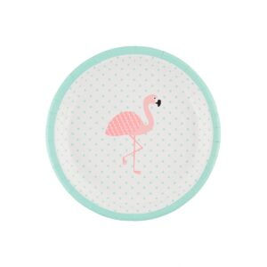 Tropical Flamingo Paper Plates by Sass and Belle.