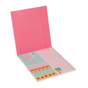 Tropical Flamingo Sticky Note Pad by Sass and Belle.