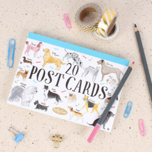 20 Dog-Themed Post Cards by Milly Green