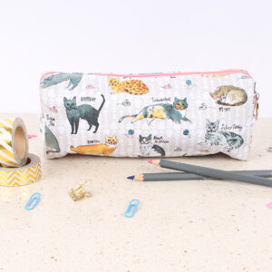 Cat Pencil Case by Milly Green