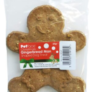Christmas Gingerbread Man Dog Treat by Petface