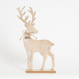 Standing Wooden Reindeer Christmas Decoration by Sass and Belle