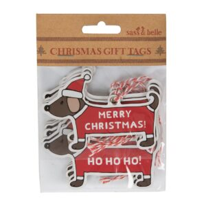 Christmas Dachshund Gift Tags by Sass and Belle