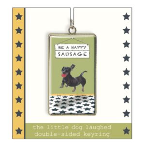 Dachshund Keyring by The Little Dog Laughed