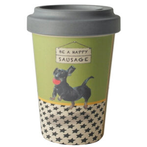 Dachshund Bamboo Travel Cup by The Little Dog Laughed