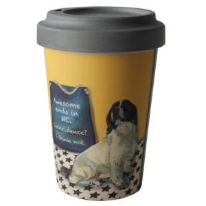 Springer Spaniel Bamboo Travel Cup by The Little Dog Laughed