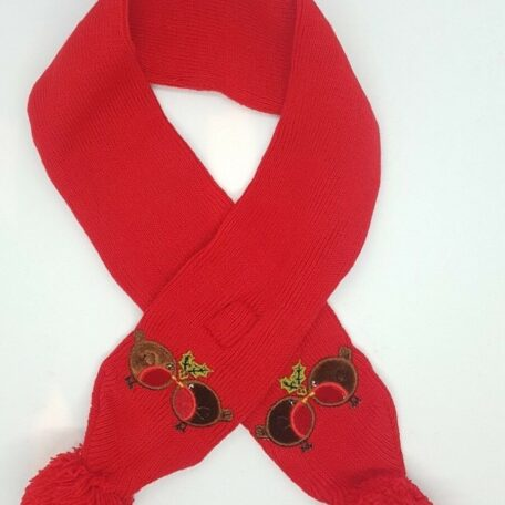 red xmas dog scarf 7