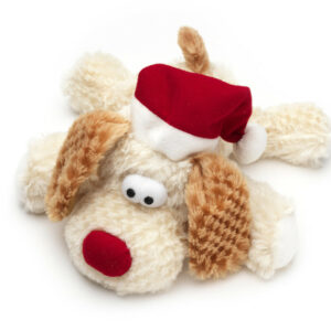 Cuddly & Squeaky Christmas Dog Toy
