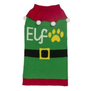 Christmas Elf Dog Jumper