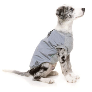 Reflective Grey MacGyver Harness Jacket by FuzzYard