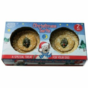 Set of 2 Christmas Tarts For Dogs by Hatchwells