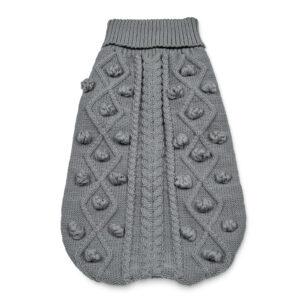 Grey Soft Knitted Dog Jumper
