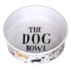 Debonaire Dogs Small Dog Bowl by Milly Green