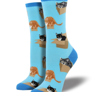 Cat in a Box – Women's Socks by Sock Smith