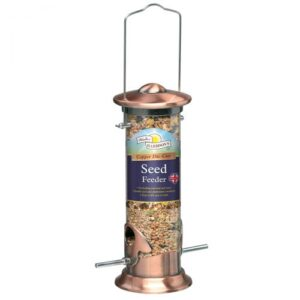 20 cm Brushed Copper Seed Feeder for Garden Birds.
